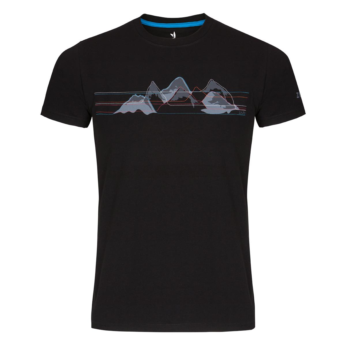 Pánske tričko ZAJO Bormio Black Mountains SS - veľkosť S