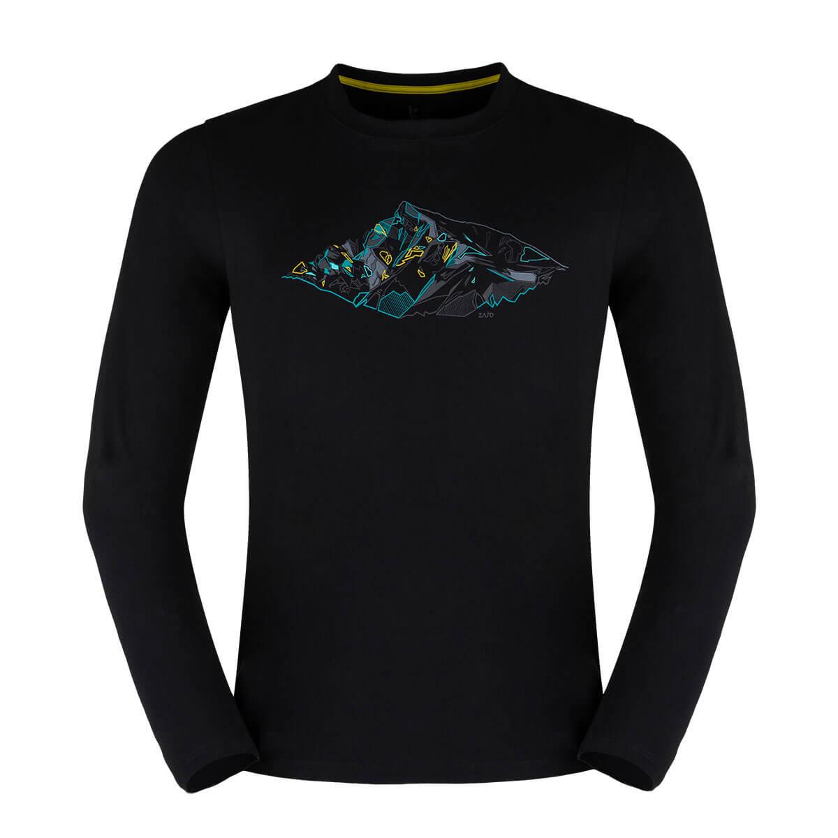 Zajo Bormio T-shirt LS Black Peak pánske tričko - veľkosť S