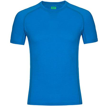 Pánske tričko Zajo Bjorn Merino T-shirt SS Blue Jewel - veľkosť L