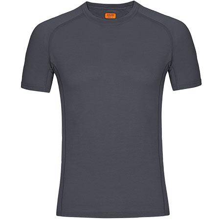Pánske tričko Zajo Bjorn Merino T-shirt SS Gray - veľkosť M