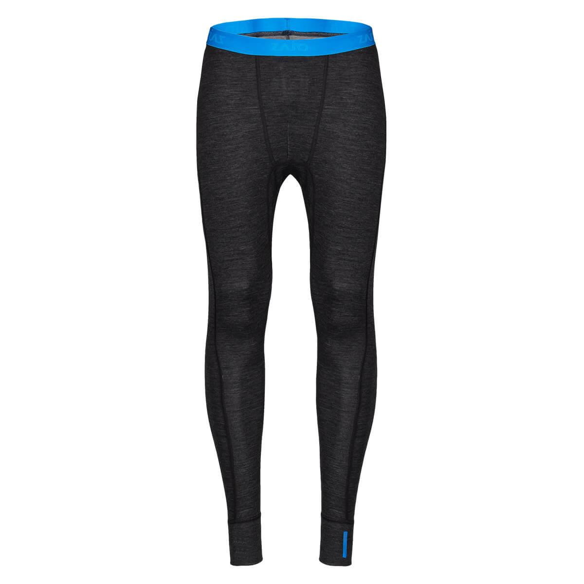 Pánske spodné prádlo Zajo Bergen Merino Pants Black - veľkosť XS