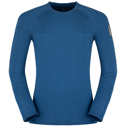 Pánske tričko Zajo Bjorn Merino Nylon T-shirt LS Poseidon Blue - veľkosť L
