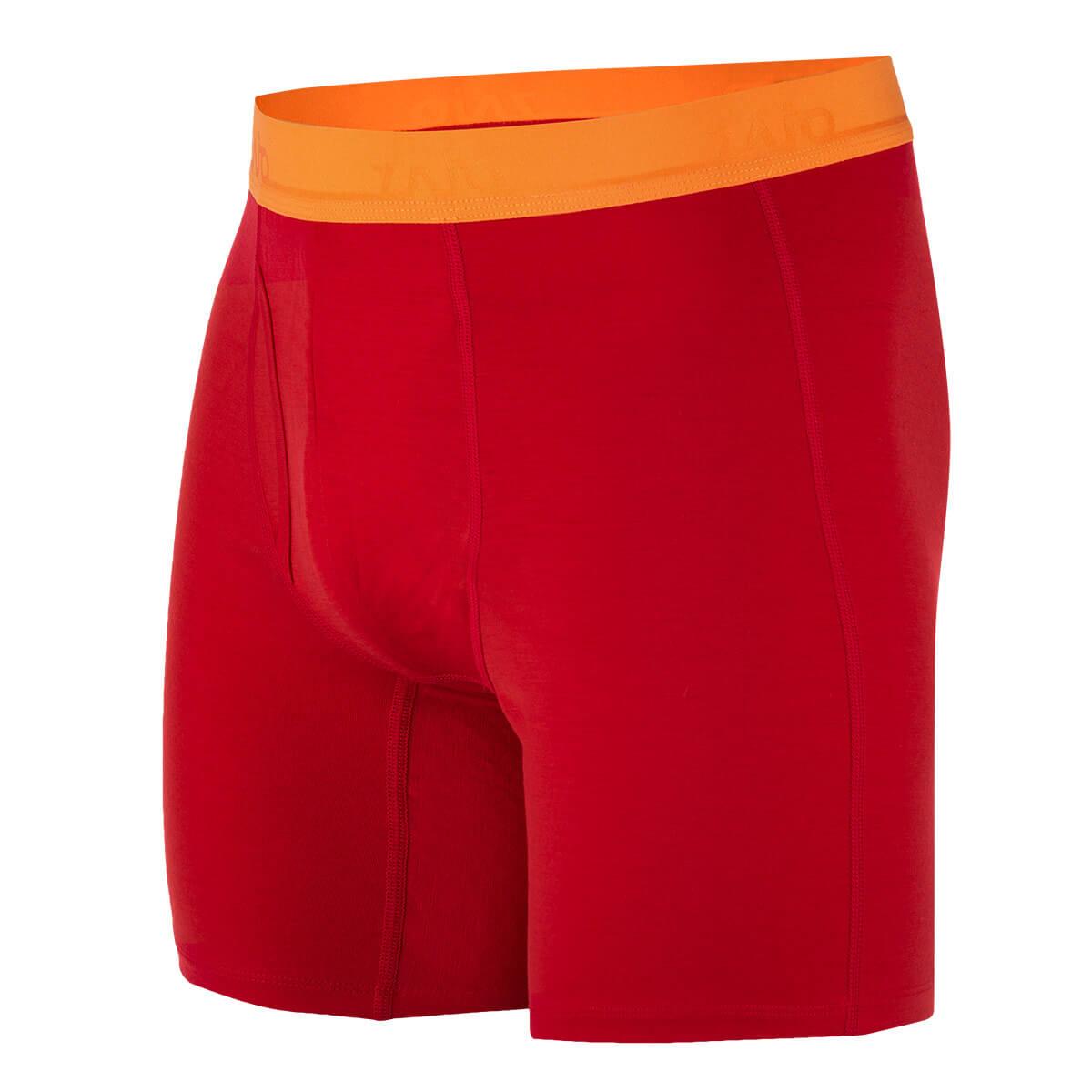 Pánske spodné prádlo Zajo Bjorn Merino Nylon Shorts Racing Red - veľkosť S