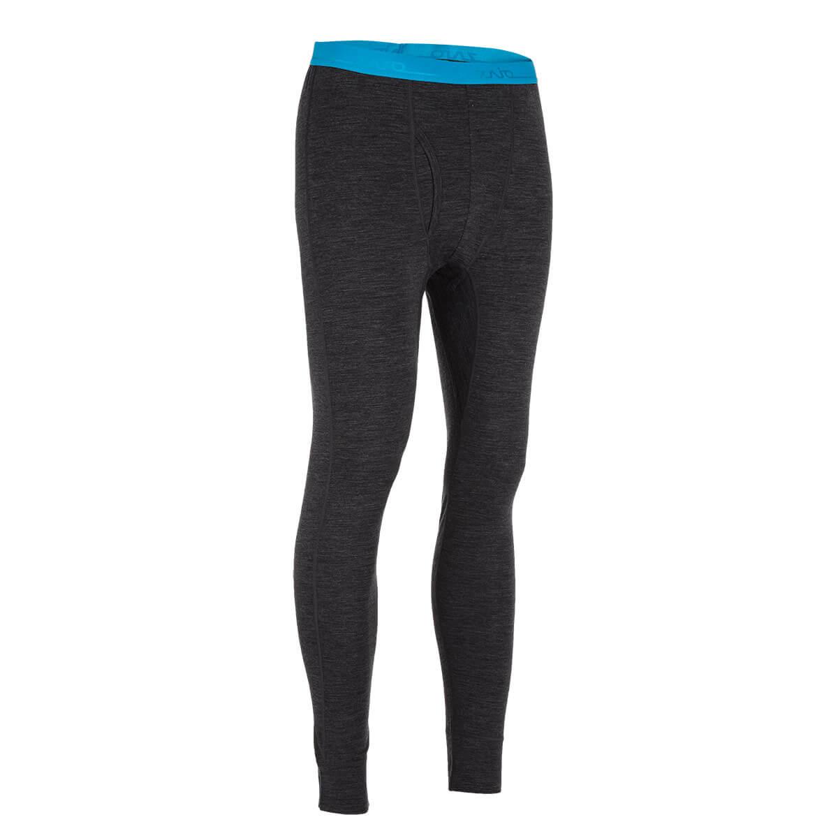 Pánske spodné prádlo Zajo Bjorn Merino Nylon Pants Black - veľkosť S