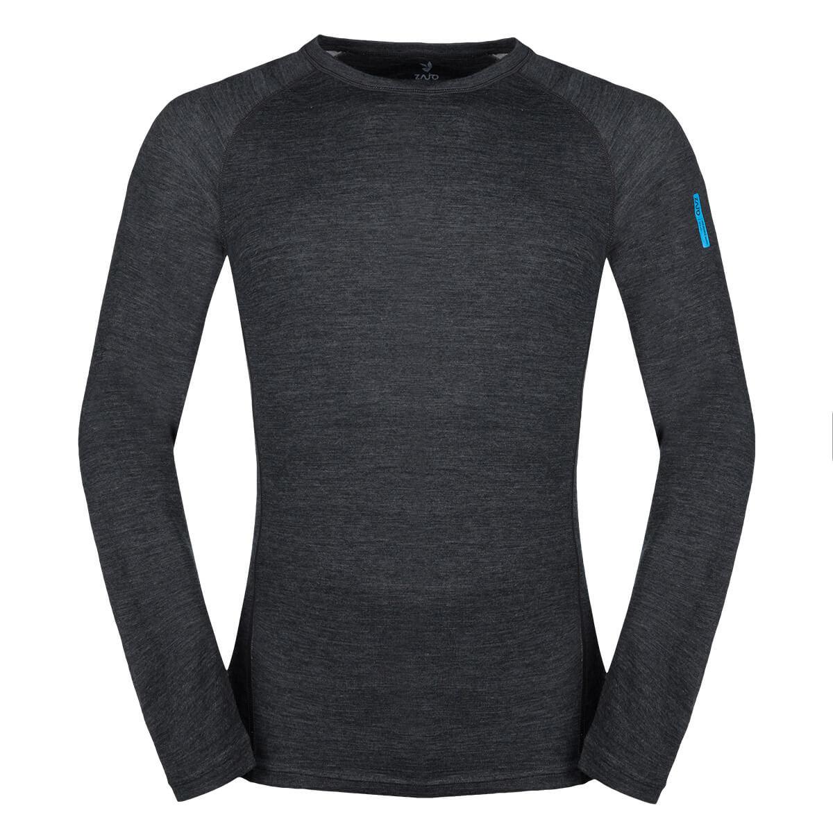 a048f7850 ZAJO Bergen Merino T-shirt LS Black Pánske tričko - veľkosť L