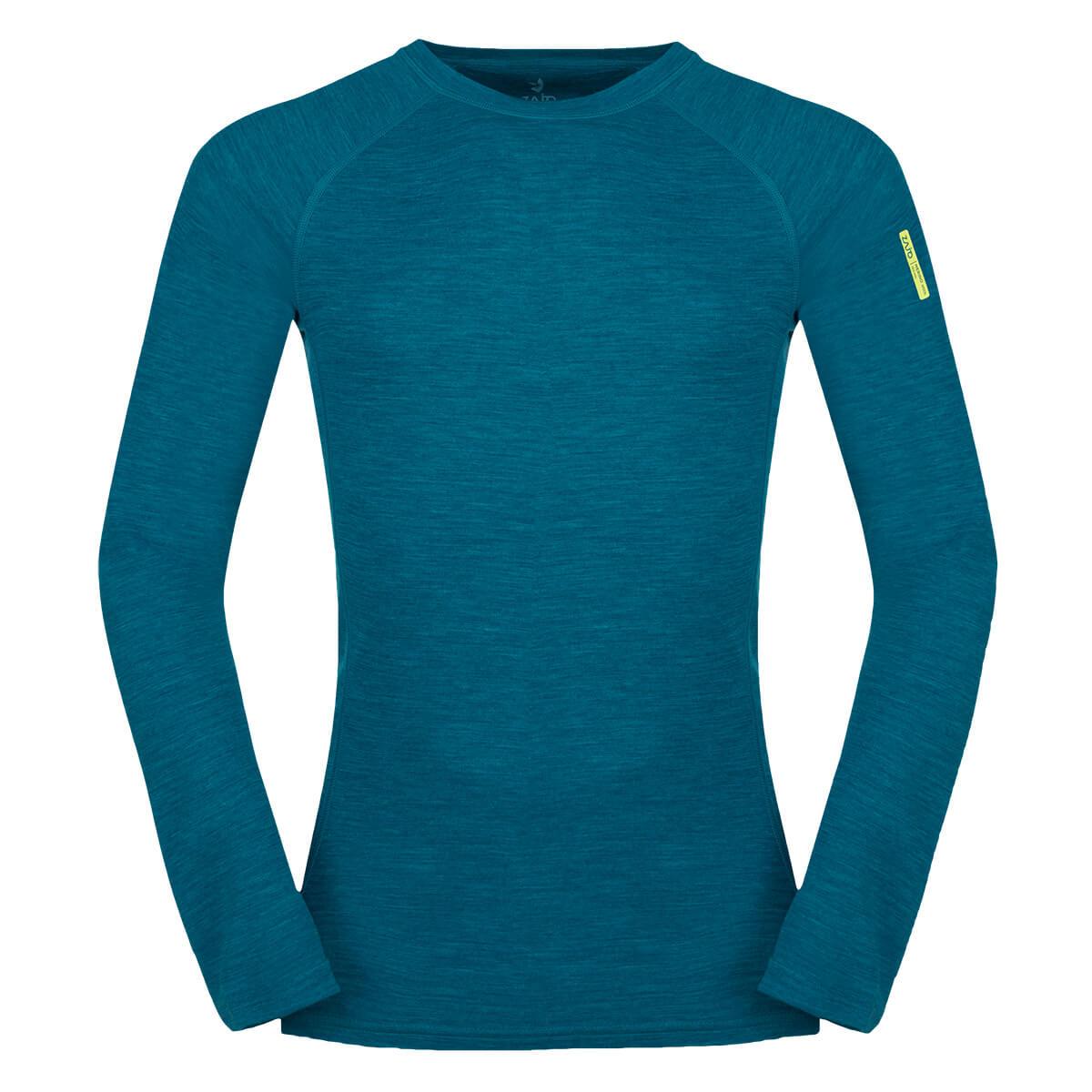 ZAJO Bergen Merino T-shirt LS Deep Lagoon Pánske tričko - veľkosť S