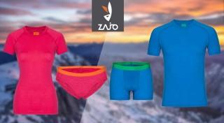 Zľava 0%: Pánske a dámske merino oblečenie od značky ZAJO do tých najnáročnejších podmienok. Vyberte si tričká, spodné prádlo, alebo topy s neoceniteľnými vlastnosťami.