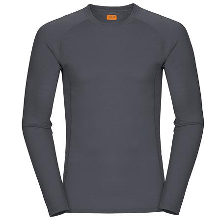 Pánske tričko Zajo Bjorn Merino T-shirt LS Gray - veľkosť S