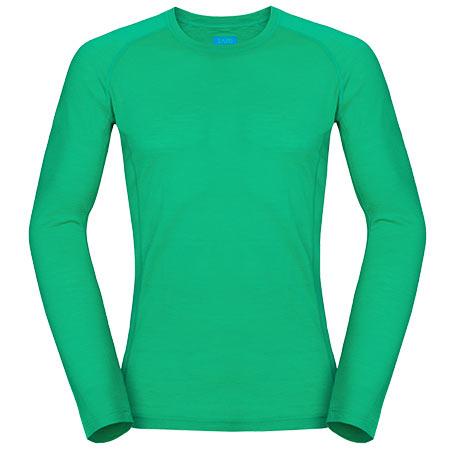 Pánske tričko Zajo Bjorn Merino T-shirt LS Bright Green - veľkosť S
