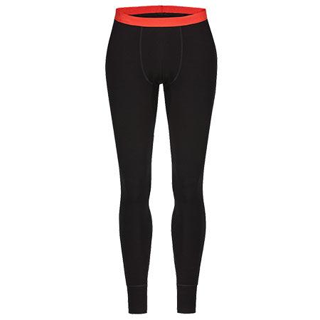 Pánske spodné Zajo prádlo Bergen Merino Pants Black - veľkosť XL
