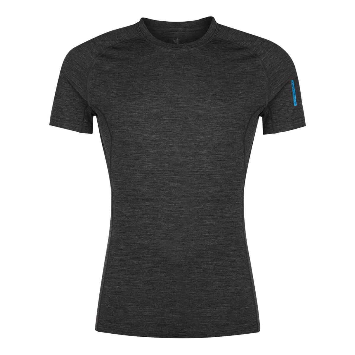 Pánske tričko Zajo Bjorn Merino Nylon T-shirt SS Black - veľkosť S