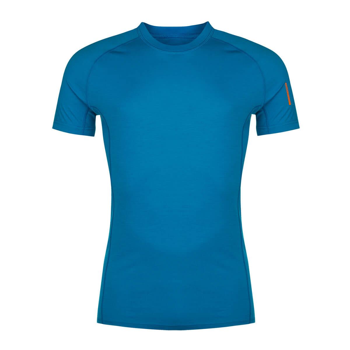 Pánske tričko Zajo Bjorn Merino Nylon T-shirt SS Greek Blue - veľkosť XS