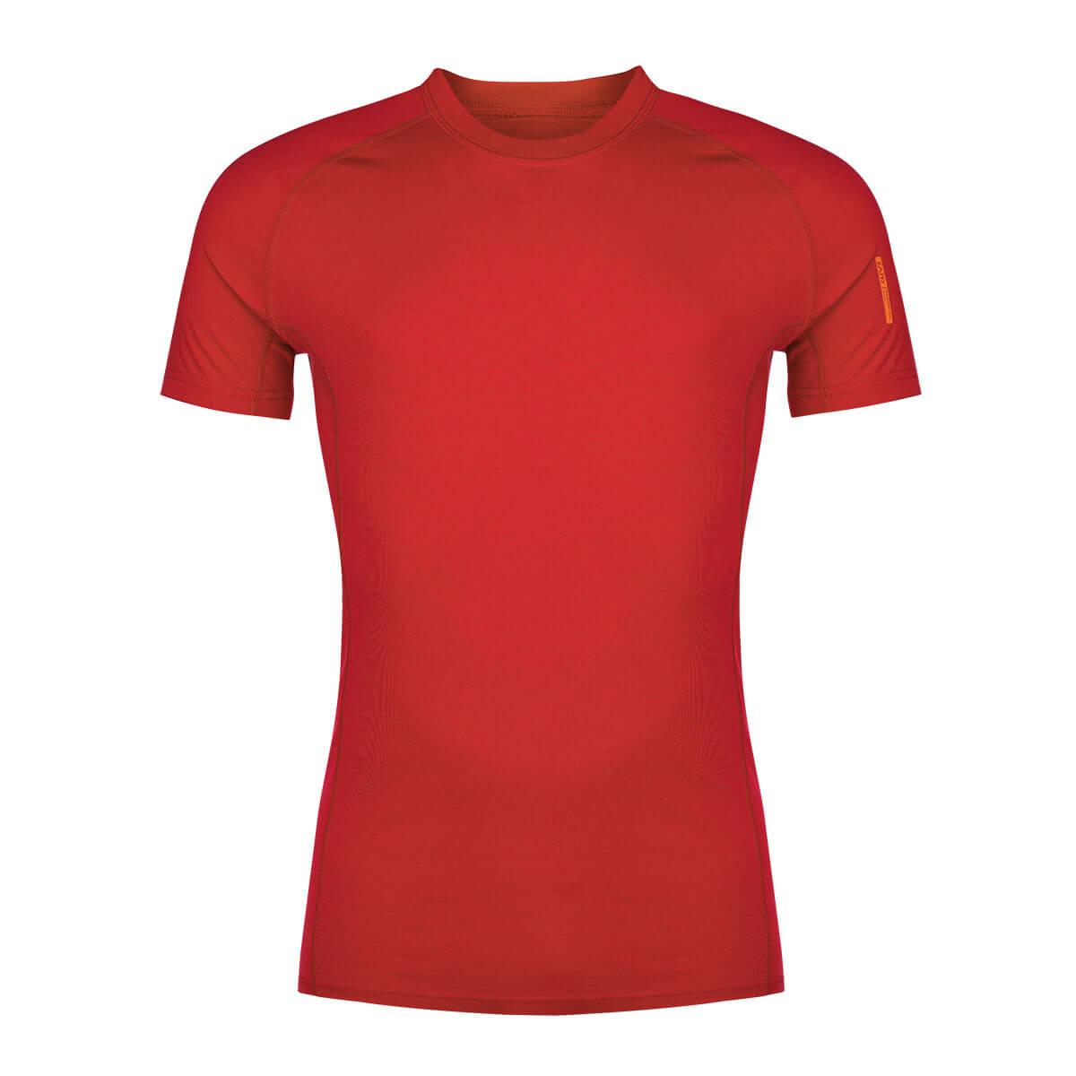Pánske tričko Zajo Bjorn Merino Nylon T-shirt SS Racing Red - veľkosť XS