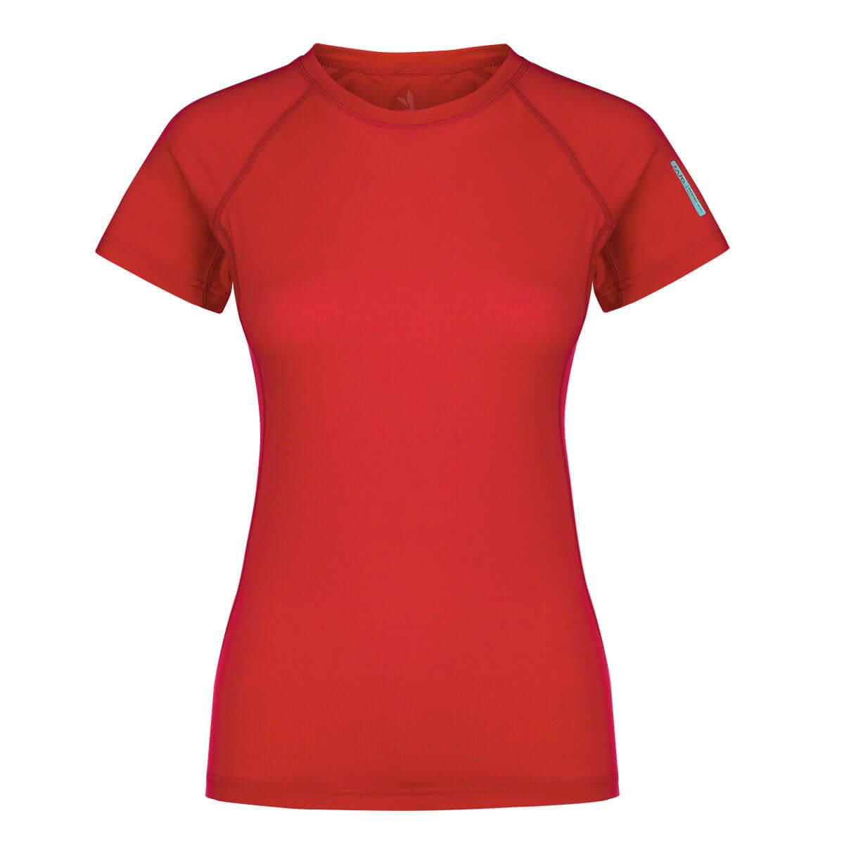 Dámske tričko Zajo Elsa Merino Nylon T-shirt SS Racing Red - veľkosť XS