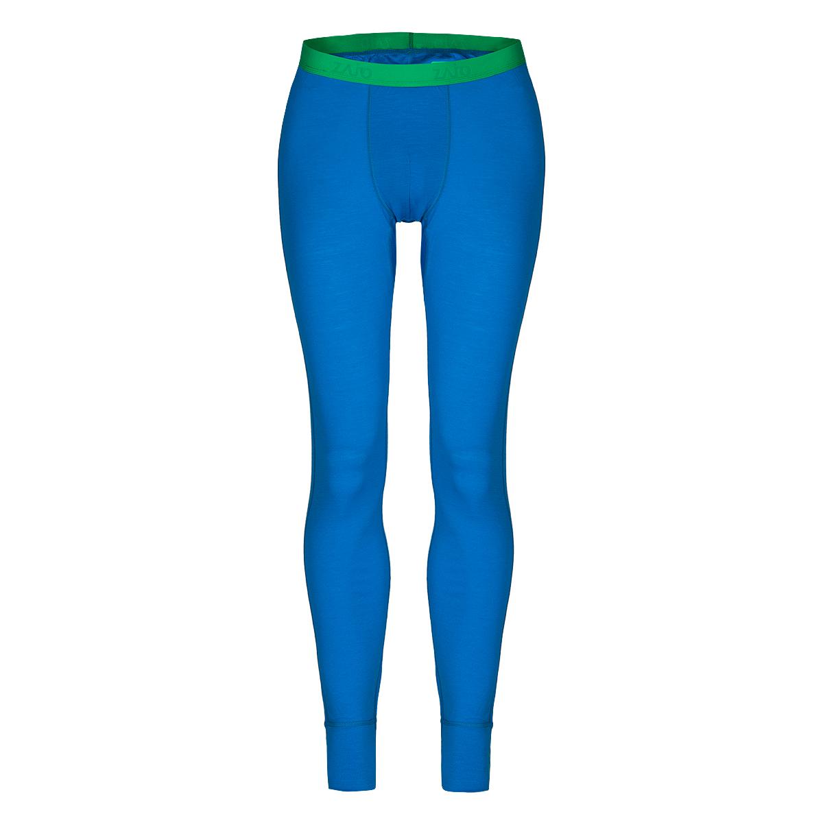 Pánske spodné prádlo Zajo Bjorn Merino Pants Blue Jewel - veľkosť XL