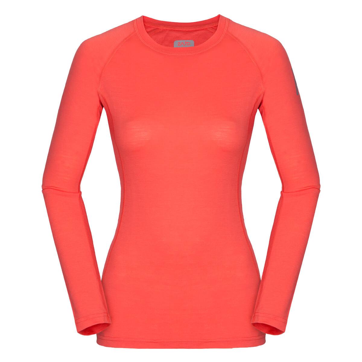 Dámske tričko Elsa Merino W T-shirt LS Coral - veľkosť XS