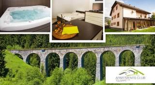 Zľava 45%: Užite si krásnu horehronskú prírodu v apartmánoch a štúdiách Apartments Club Telgárt *** pod Kráľovou Hoľou. Čaká vás wellnes a útulné ubytovanie pre 2 až 7 ľudí!