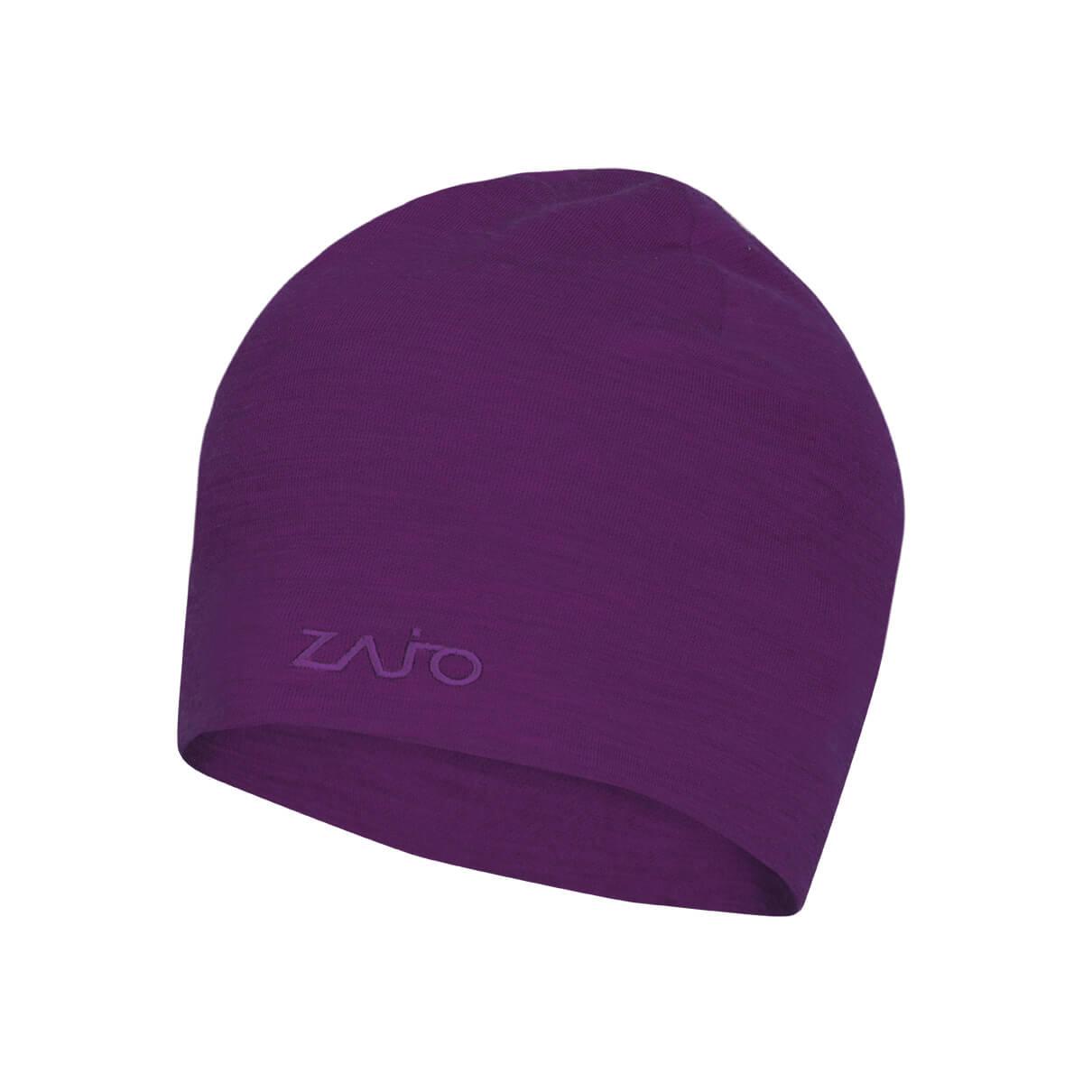ZAJO Hals Typo Merino Beanie Dark Purple čiapka