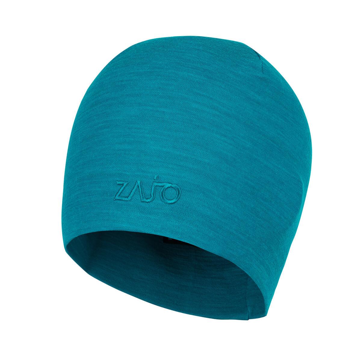 ZAJO Hals Typo Merino Beanie Enamel Blue čiapka