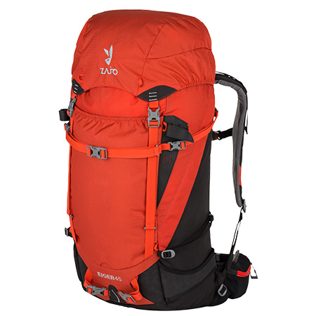 Batoh Eiger 45 Backpack Red Black
