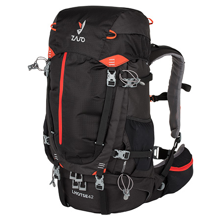 Batoh Lhotse 42 Backpack Black-Red