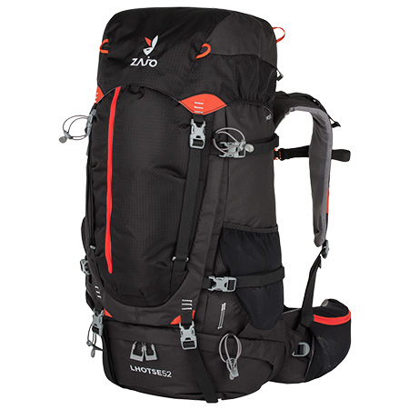 Batoh Lhotse 52 Backpack Black-Red