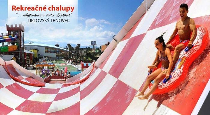Fotka zľavy: Urobte si výlet na Liptov a do aquaparku Tatralandia. Skvelý oddych vás čaká v rekreačných chatách v Liptovskom Trnovci pre 2 alebo 6 osôb.