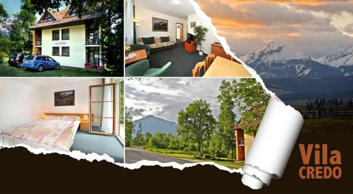 Fotka zľavy: Relax uprostred Vysokých Tatier len za 42 €. Hrejivá útulnosť Vily Credo na 4 alebo 5 dní dni v Dolnom Smokovci. Užite si pohodovú jeseň v lone hôr.