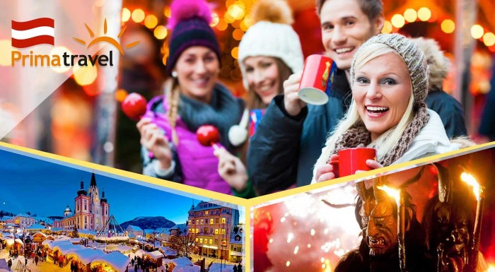Fotka zľavy: Prídite načerpať vianočnú náladu do rakúskeho Mariazellu. Zohreje vás famózna medovina, sladké perníčky a večer predvedú úchvatné divadlo všetci tunajší čerti počas tradičného behu.