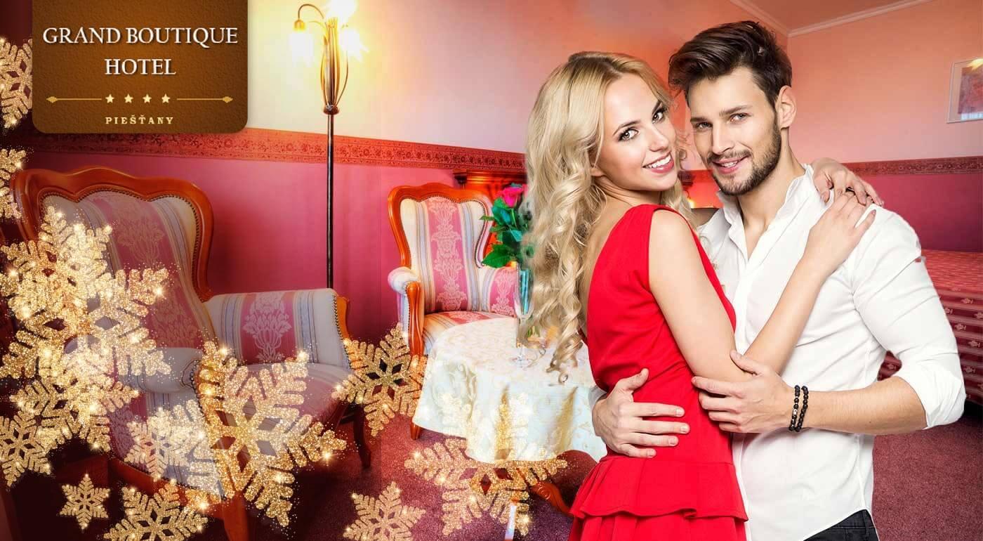 Romantická noc v luxusnom Grand Boutique Hoteli Sergijo**** Piešťany s masážou