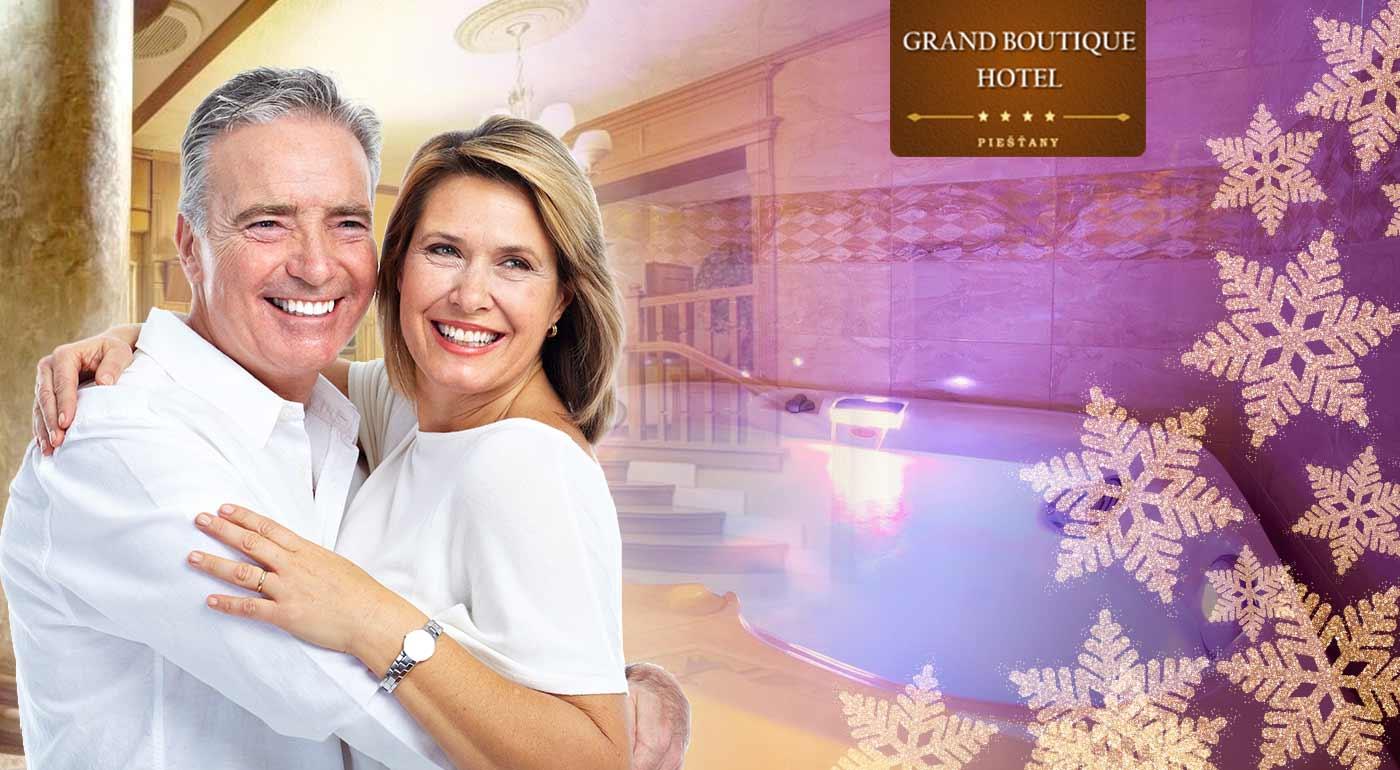 Luxusný senior pobyt v Grand Boutique Hoteli Sergijo**** Piešťany s plnou penziou, wellness a masážami