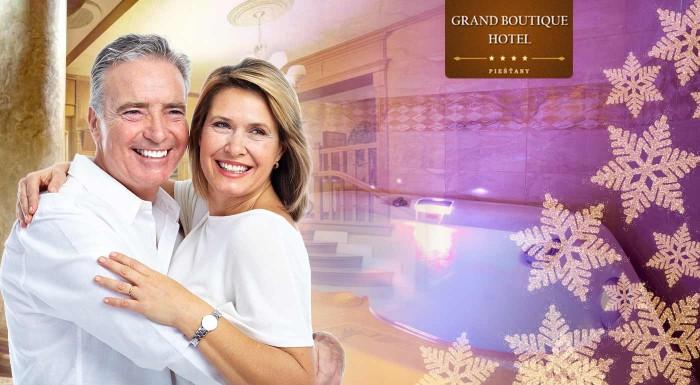 Senior pobyt v Grand Boutique Hoteli Sergijo**** Piešťany s plnou penziou, wellness a masážami. Vyberte si variant na 3, 4 alebo 5 dní.