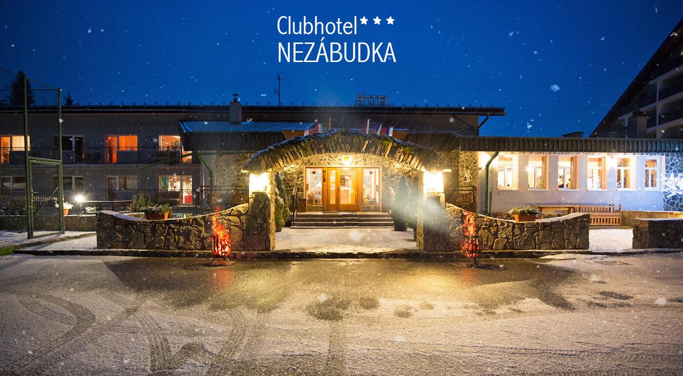 Vianočný alebo silvestrovský pobyt pod Tatrami v Clubhoteli*** Nezábudka - wellness, polpenzia alebo all inclusive