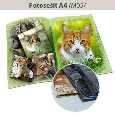 Fotozošit formát A4 na výšku - M05, 40 strán, mäkká väzba