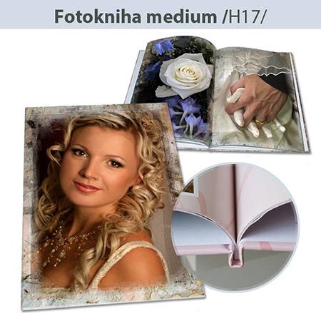 Fotokniha formát A4 na výšku - H17, 32 strán, tvrdá knižná väzba