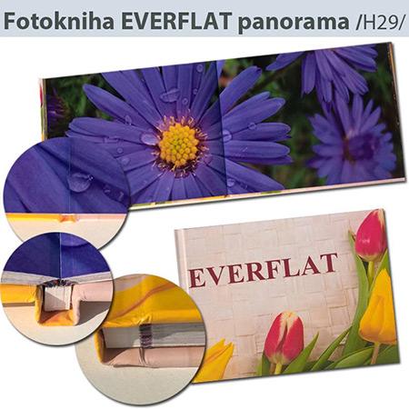 Luxusná fotokniha Everflat panorama formát A4 na šírku - H29, 40 strán, pevná knižná väzba