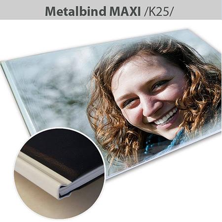 Fotokniha Metalbind Maxi formát A3 na šírku - K25, 104 strán, tvrdá knižná väzba