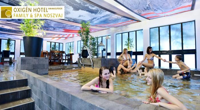 Užite si luxusný pobyt s rodinou v hoteli s wellness a animátormi. Oxigén Hotel**** Superior Family & Spa sa nachádza v maďarskom mestečku Noszvaj a ponúka vašej rodine ten najlepší relax.