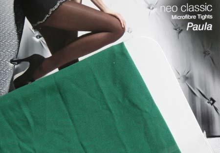 Dámske pančuchy Fiore Paula 40 DEN - farba dark green - veľkosť S-2