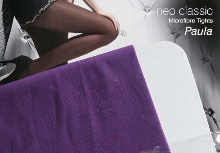 Dámske pančuchy Fiore Paula 40 DEN - farba violet - veľkosť S-2