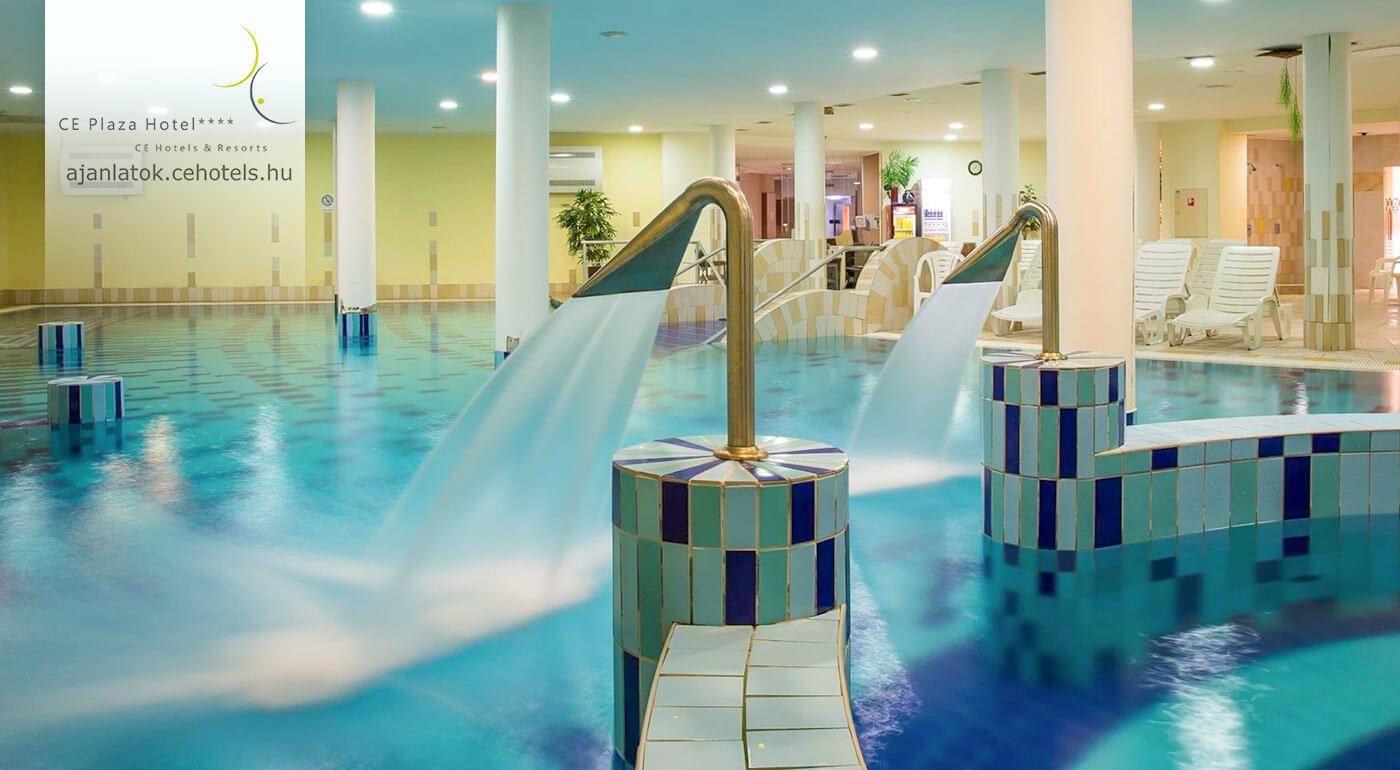 Fotka zľavy: Užite si pobyt pri Balatone v maďarskom CE Plaza Hotel**** na 3 dni pre 2 osoby len za 129 €. Čaká vás luxusné ubytovanie, skvelé jedlo a vstup do wellness centra. Relaxujte v príjemnom prostredí!