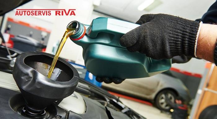 Fotka zľavy: Dajte si vymeniť olej a olejový filter v aute jednoducho a za výhodnú cenu. V autoservise Riva v Lamači vám tiež skontrolujú podvozok, brzdový systém a výfukový systém.
