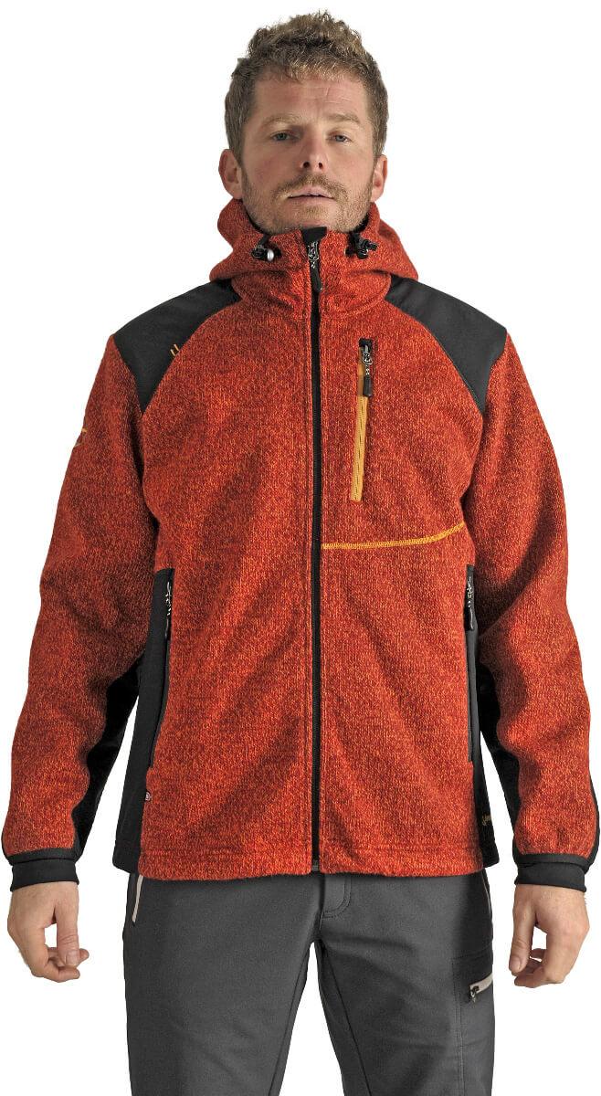 Benesport pánska bunda Javorník - oranžová, veľkosť L