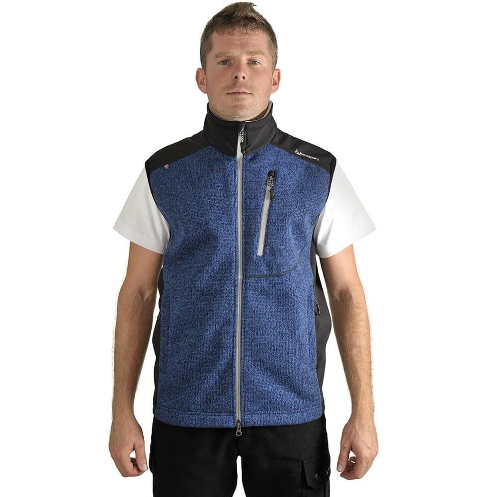 Benesport pánska vesta Pirc - modrá - veľkosť M