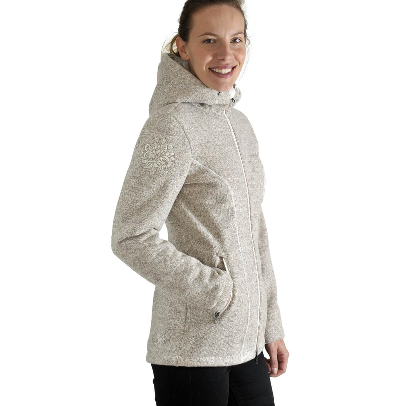 Benesport dámska bunda Kruhová - krémová, veľkosť L