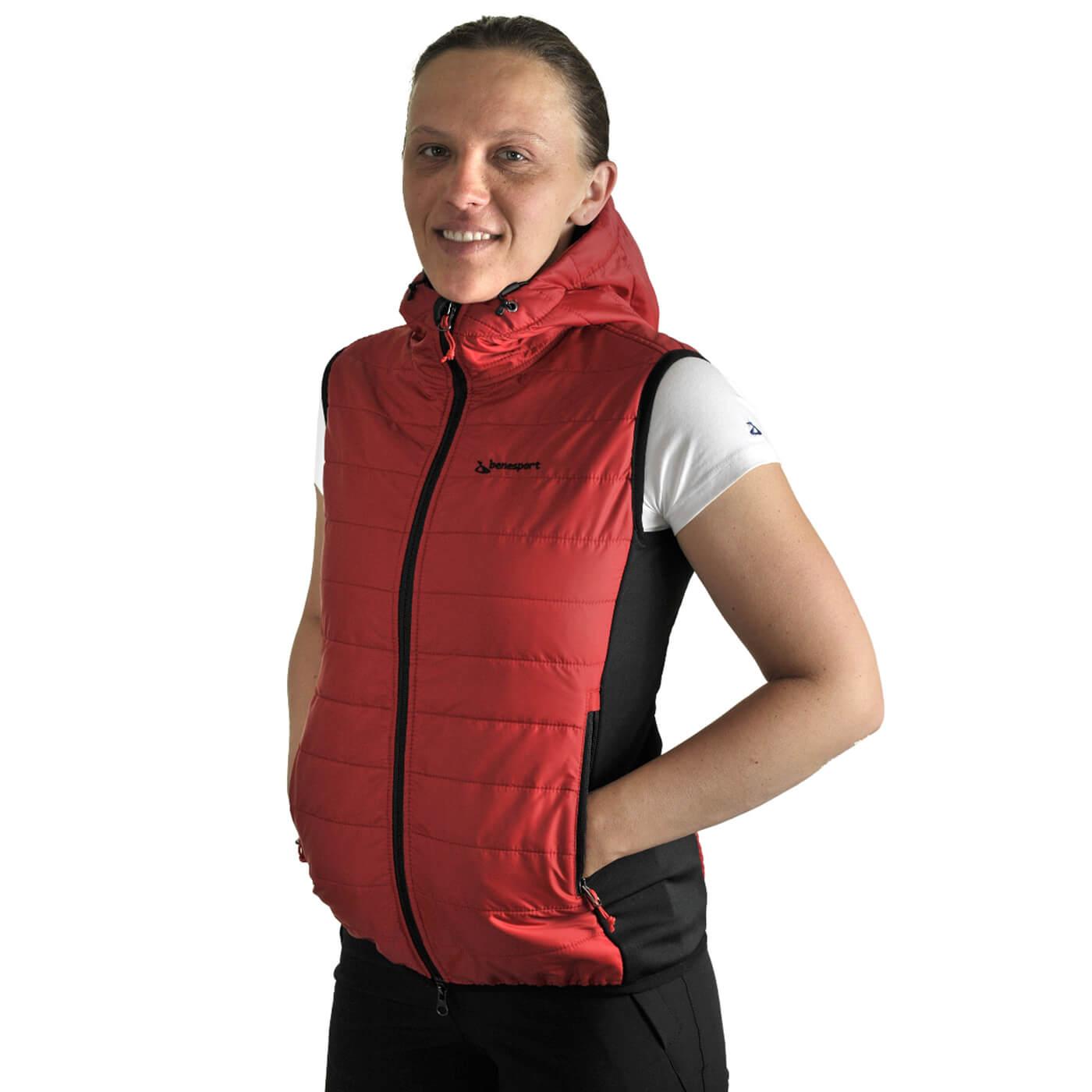 Benesport dámska vesta Ostrva - červená, veľkosť S s extra zľavou 20%