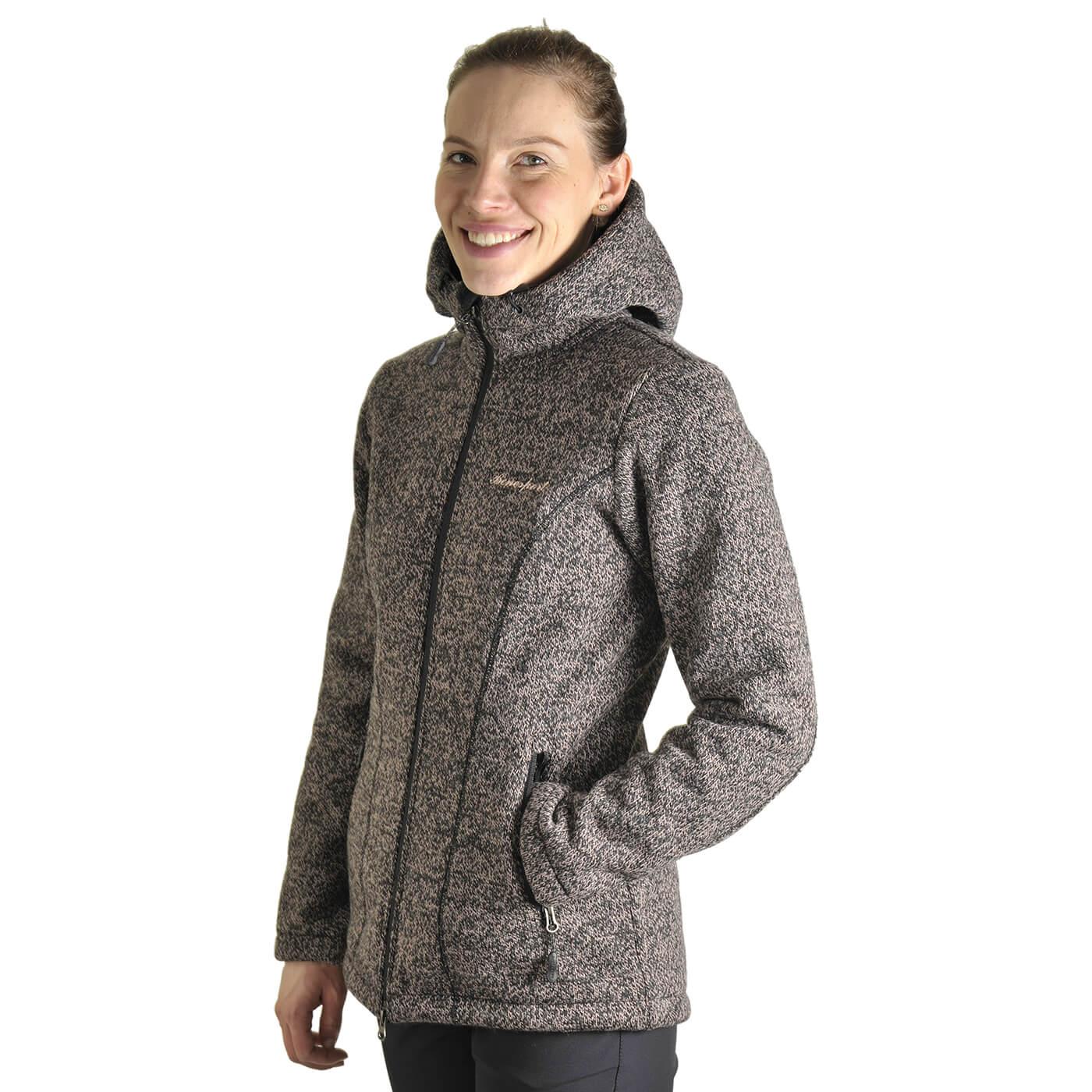 Benesport dámska bunda Kruhová - ružovo-čierna, veľkosť S