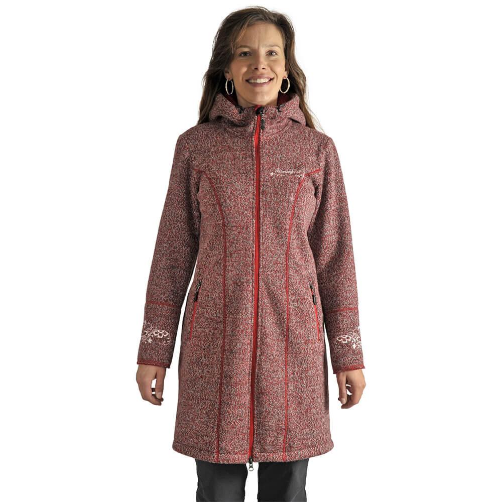 Benesport dámska bunda Pipitka - červená, veľkosť M