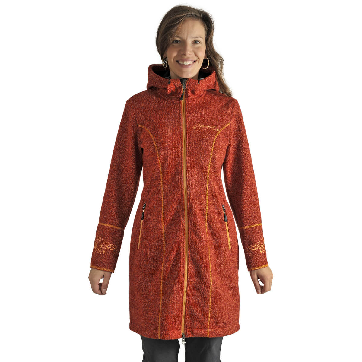 Benesport dámska bunda Pekelník - oranžová, veľkosť XS