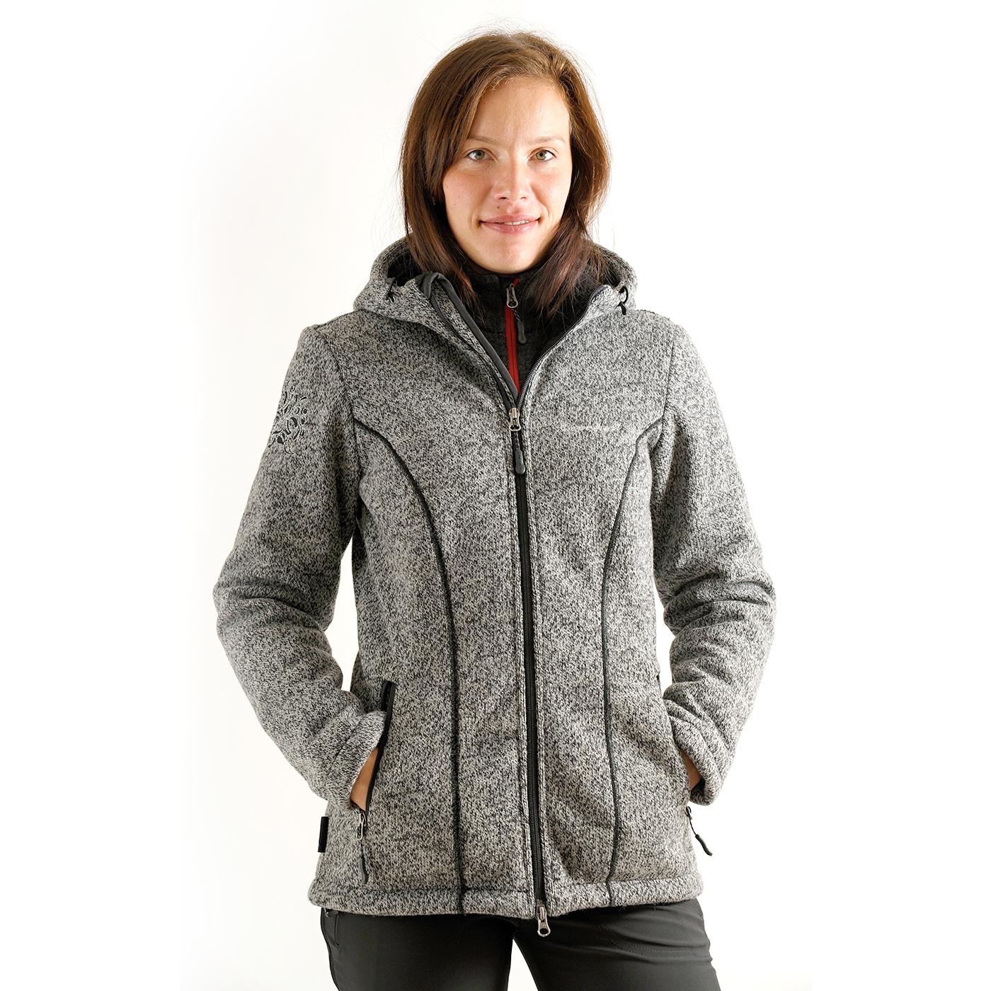 Benesport dámska bunda Kruhová - čierna, veľkosť XS